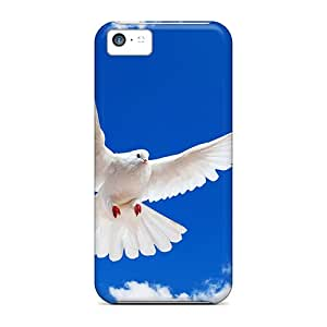 (zms28286fexs)durable Protection Cases Covers For Iphone 5c(white Dove Wide)