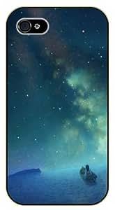Surelock iPhone 4 / 4s Girl on lake, nebula - black plastic case, hot girl, girls