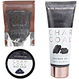 Body Prescriptions Charcoal Body Care Set 3 Pc Bath and Body Works – Shower Gel, Bath Scrub and Bath Salts Kit