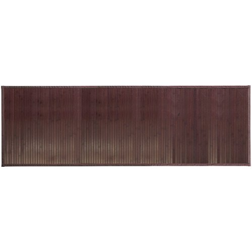 "InterDesign Bamboo Floor Runner – Ideal Mat for Hallways, Kitchen or Office - 24"" x 72"", Mocha - Amber Rug Rug"