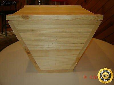 COLIBROX  Top Bar Bee Hive With 12 Top Bars Backyard Bee Keeping Hive Top