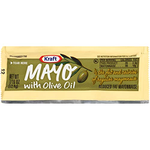Kraft Mayonnaise Calories - Kraft Mayo with Olive Oil (0.43 oz Packets, Pack of 200)