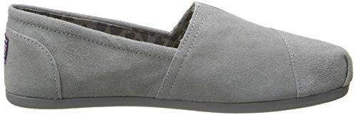 Skechers - Mocasines para mujer gris