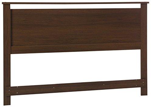 South Shore 54/60'' Primo Headboard, Full/Queen, Brown Walnut (Walnut Round Bookcase)