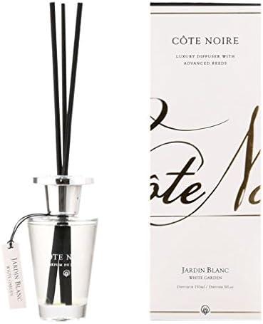 Cote Noire – Vela perfumada en tarro 150 ml difusor Set – Jardin Blanc: Amazon.es: Belleza