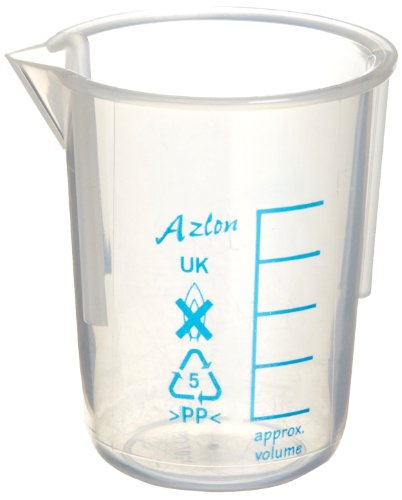 (Azlon 522655-0400 Polymethylpentene Low Form Tapered Graduated Beaker with Printed Graduations, 400mL Capacity (Pack of 10))