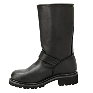 Xelement 1445 Mens Black Steel Toe Motorcycle Engineer Boots - 12