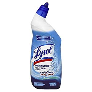 Lysol power free toilet bowl cleaner with - Hydrogen peroxide bathroom cleaner ...