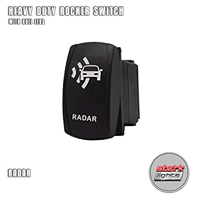 RADAR - Blue - Switch Dual Light - STARK Laser Etched LED Rocker - 20A 12V ON/OFF 5-PIN: Automotive