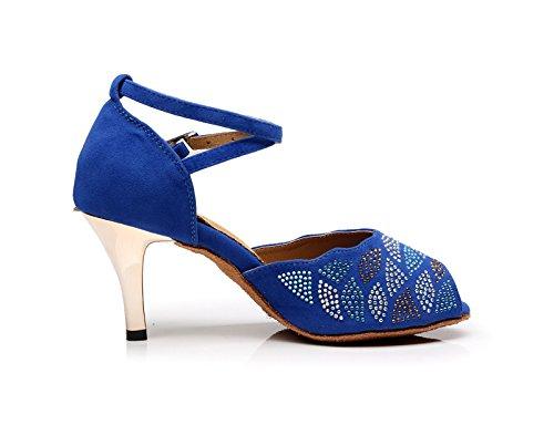 7 Miyoopark Blue EU Bleu Salle 35 Heel 5cm EU femme bal de 6rUY6X