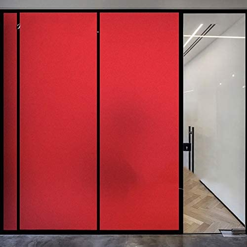 LRQY Vistosa Vitral Esmerilado Vinilo para Ventana Privacidad,Autoadhesiva Opaco Anti-UV Etiqueta Decorativa,Rojo,60x300cm(24x118inch): Amazon.es: Hogar