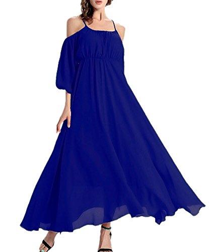 Printed Chiffon Long Dress - 4