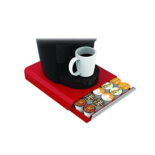 Mind Reader Coffee Pod Storage Drawer for K-Cups, Verismo, Dolce Gusto, Holds 30 K-Cups, 35 CBTL, Verismo, Dolce Gusto, Red by Mind Reader