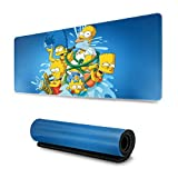 Cartoon Animation The Simpsons Mouse Pad Rectangle Non-Slip Rubber Electronic Sports Oversized Large Mousepad Gaming Dedicated 11.8X31.5 Inch