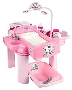 Ecoiffier 2854 - Set de cuna cambiador y bañera par muñeco con diseño de Hello Kitty