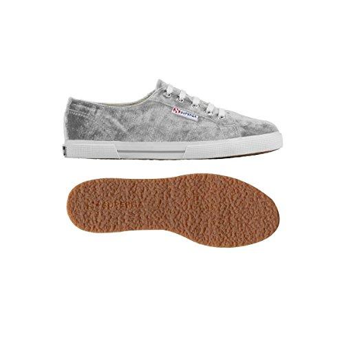 Superga 2950 Velvu - Zapatos con cordones de lona unisex Plateado