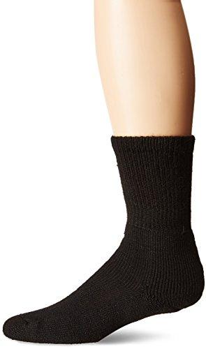 (Thorlos Unisex MB Military Thick Padded Crew Sock, Black, Large)