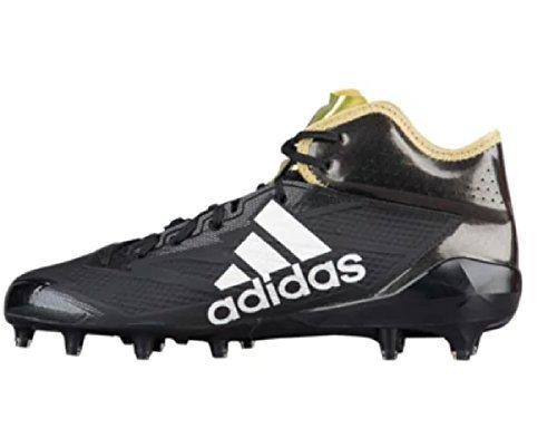 adidas Adizero 5Star 6.0 Mid Cleat Men's Football 9.5 Core Black-Gold Metallic-Black