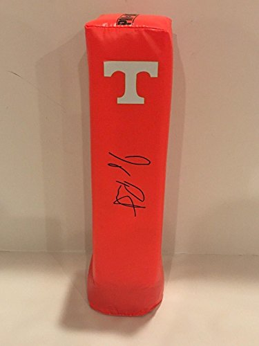 Jeremy Pruitt Signed Tennessee Volunteers Touchdown Pylon Coach Football Proof - College Autographed Miscellaneous Items