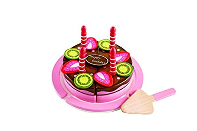 Hape Double Flavored Birthday Cake Kid's Wooden Play Kitchen Toys and Accessories