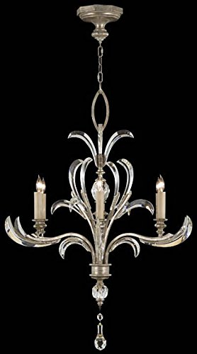 Fine Art Lamps 701040, Beveled Arcs Crystal 1 Tier Chandelier Lighting, 6 Light, 360 Watts, Silver ()