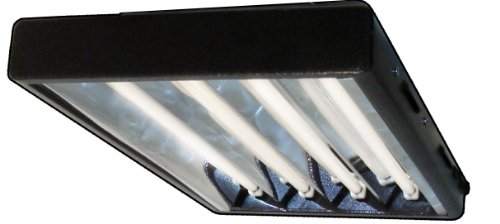 Viavolt 4-Bulb T5 High Output Copper Fluorescent Grow Light Fixture, 2', Copper Chrome Fluorescent High Output Bulb