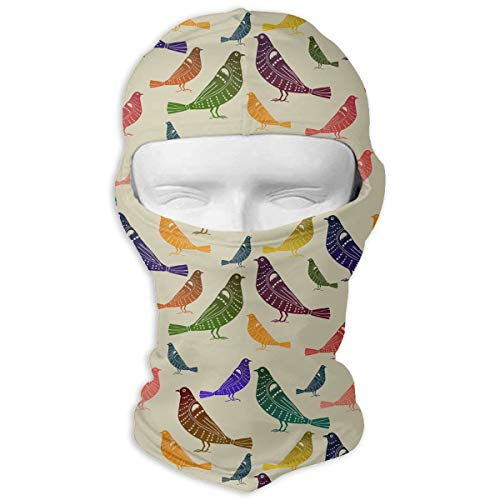 Men & Women Winter Balaclava Rainbow Parakeets Budgies Wind-Resistant Helmet Liner Mask Polyester Multifunctional Hat Scarf for Motorcycle, Snowboard, Outdoors