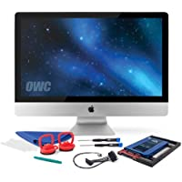 OWC 240GB SSD Upgrade Bundle For 2011 iMacs, OWC 240GB Mercury Extreme Pro 6G SSD, AdaptaDrive 2.5 to 3.5 Drive Converter Bracket, In-line Digital Thermal Sensor Cable, Installation tools