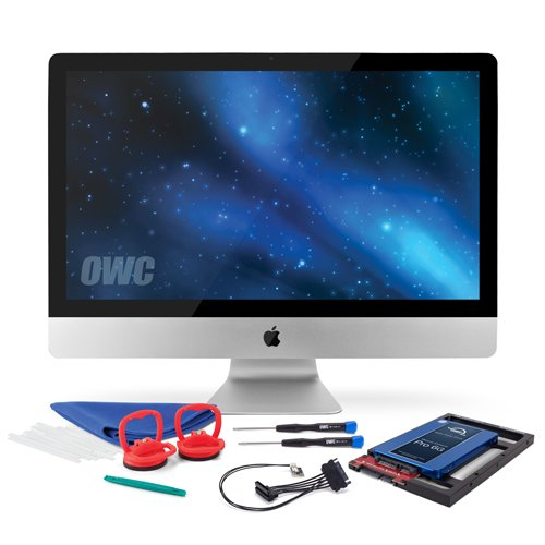 OWC 480GB SSD Upgrade Bundle For 2011 iMacs, OWC 480GB Mercury Extreme Pro 6G SSD, AdaptaDrive 2.5'' to 3.5'' Drive Converter Bracket, In-line Digital Thermal Sensor Cable, Installation tools by OWC