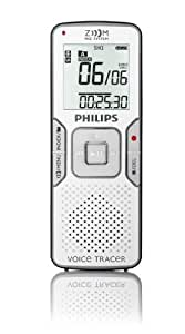 Philips Voice Tracer grabadora digital LFH0865/00 - Dictáfono (50 h, Alta calidad (HQ), Larga duración (LP), Calidad superalta (SHQ), Reproducción superlarga (SLP), Repr, MP3, 60 dB, 8 - 320 Kbit/s, 8192 MB)