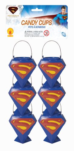[Superman Returns Candy Cups - Pack of Six] (Superman Clark Kent Halloween Costume)