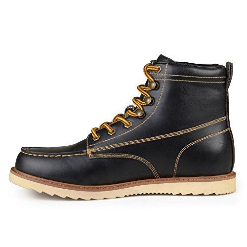 outlet from china Vance Co Mens Faux Leather Lace-up Moc Toe Work Boots Black exclusive online free shipping original free shipping find great 2014 new sale online gXwzSC