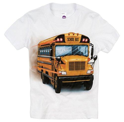 Shirts That Go Little Boys' Big Yellow School Bus T-Shirt 2 White (Toddler School Tee)