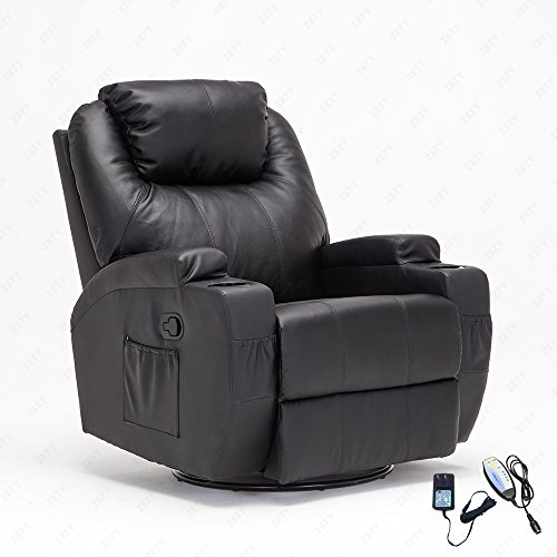 RECLINER GENIUS Massage Recliner Chair Leather Heated Lounge Living Room Chair Black  sc 1 st  Amazon.com & Electric Recliners: Amazon.com islam-shia.org