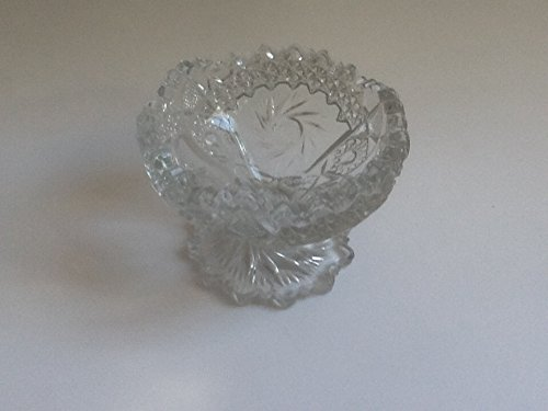 Vintage Pressed Glass Footed Candy Dish (Pressed Candy Glass)