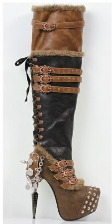 Bottes Marron Ventail Hadès Chaussures Steampunk 5tfqTn4w