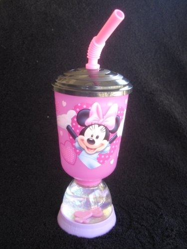 "Zak Designs Disney's ""Minnie Mouse"" Cup with Straw & Snow..."