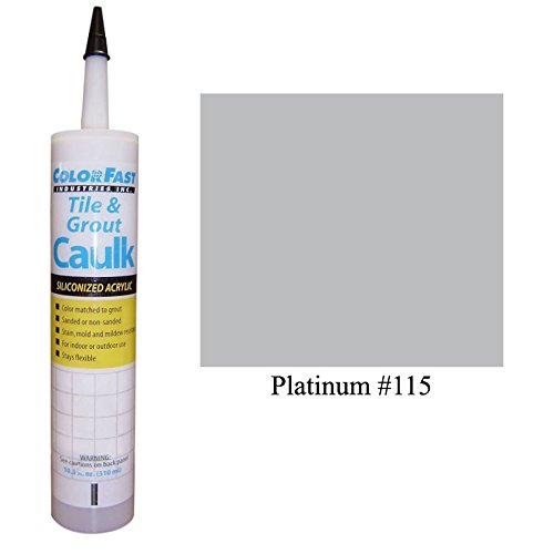 Color Fast Caulk Matched to Custom Building Products (Platinum Unsanded)
