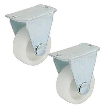 eDealMax 1,25 pulgadas PP sola rueda metálica fija la Silla del balanceo de la