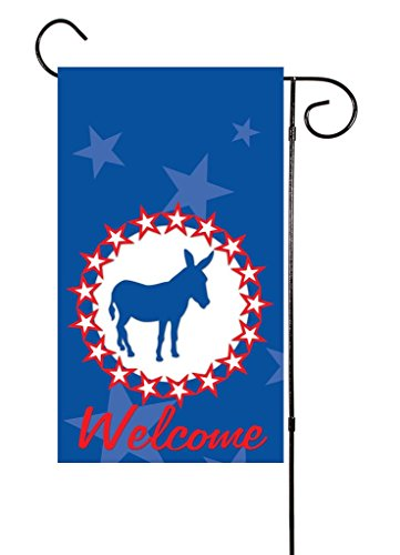 "Political Democratic Donkey Garden Flag 12""x18"" Perfect for Presidential Election time - Donkey Keepsake"