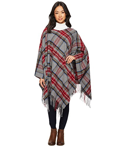 Pendleton Women's Cozy Poncho Accessory, -stewart charcoal plaid, One Size by Pendleton