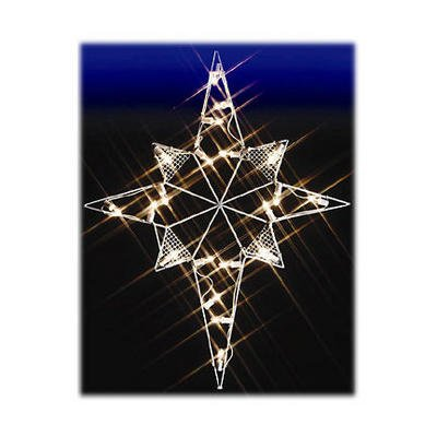 Outdoor Lighted Christmas Nativity Star Decoration