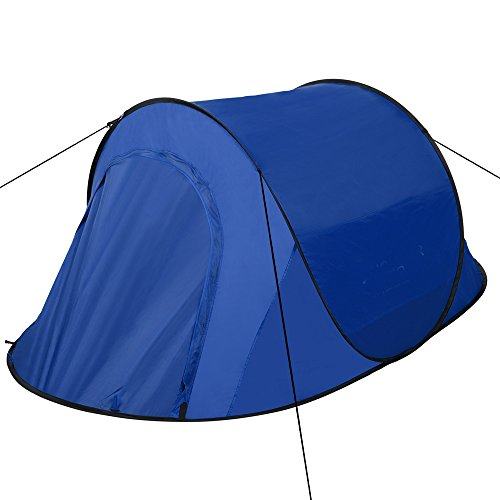 Pop Up Tent Automatic Instant Setup Easy Fold Back Waterproof Shelter with Potable Pack for Camping Hiking (blue)