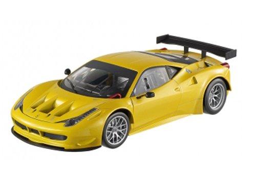Hot wheels BCJ78 Ferrari 458 Italia GT2 Yellow 1/18 Diecast Car Model by Hotwheels