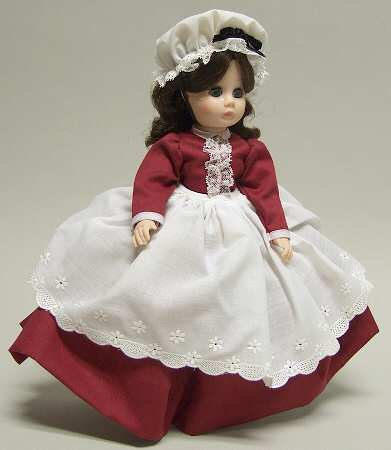 Madame Alexander Marme Doll Little Women Collection Burgundy Dress #1324