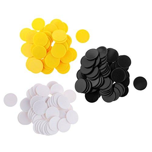 Perfk 約150個 40mm ビンゴチップ ポーカートークン カウンター マーカー キッズ おもちゃ