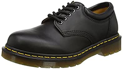 Dr. Martens 8053 5 Eye Padded Collar Boot,Black Nappa,5 UK/Women's 7 Men's 6 M US