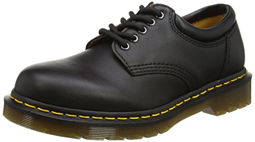 Dr. Martens 8053 5 Eye Padded Collar Shoe, Black Nappa, 7 UK/8 US Men/9 US Women