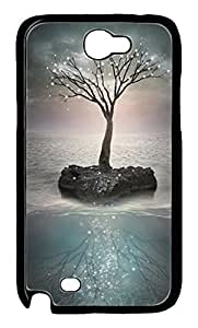 Halnziye Under The Sky Of A Tree Hard Plastic Case Cover Compatible for Sumsang Galaxy Note 2 N7100
