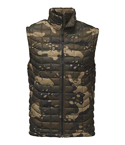 - The North Face Men's Thermoball Vest Burnt Olive Green Woodchip Camo Print Small